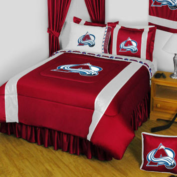 NHL Colorado Avalanche Bedding Set Hockey Bed: Full