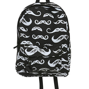 Black Mustache Backpack | Hot Topic