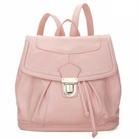 YESSTYLE: 19th Street- Faux Leather Drawstring Backpack (Pink - One Size) - Free International Shipping on orders over $150