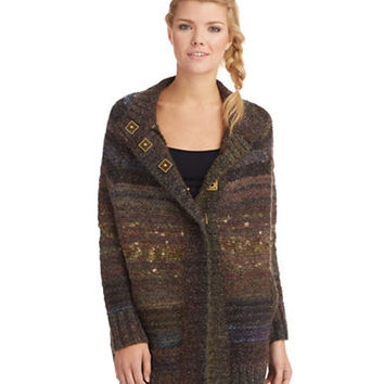 Free People Starlight Shadow Poncho Cardigan