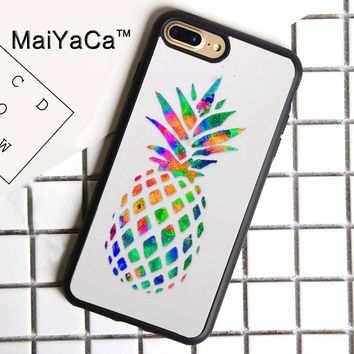 MaiYaCa Pineapple Summe Print Soft Rubber Cover For iPhone 8 Plus Case For Apple iPhone 8plus Phone Cases Shell