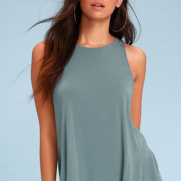 Rosella Slate Blue Tank Top