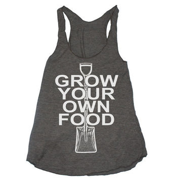 Womens GROW YOUR Own FOOD american apparel TriBlend by happyfamily