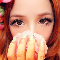 Royal Vision Girly Chip Latte Brown Circle Lenses Colored Contacts Cosmetic Color Circle Lens