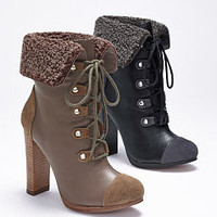 Shearling Cap-toe Bootie - VS Collection - Victoria's Secret
