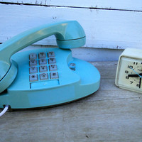Blue Phone Princess Telephone Turquoise by quirkyessentials