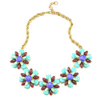 Jeweled Statement Necklaces Barbie Necklace Flower Statement Necklaces