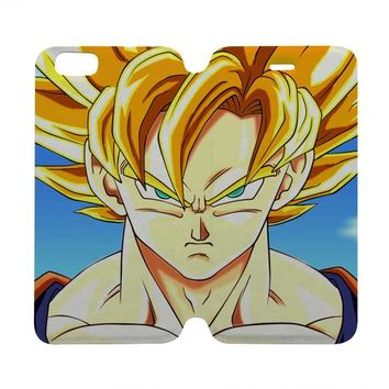 DRAGON BALL Z SON GOKU Wallet Case for iPhone 4/4S 5/5S/SE 5C 6/6S Plus Samsung Galaxy S4 S5 S6 Edge Note 3 4 5