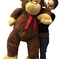Giant Stuffed Monkey 5 Feet Tall Soft Brown Large Plush Animal 60 Inches New