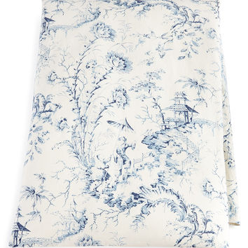 """King Pagoda Toile Duvet Cover, 105"""" x 95"""" - Sherry Kline Home Collection"""
