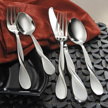 Oneida Satin Aquarius 5 Piece Fine Flatware Set, Service for 1