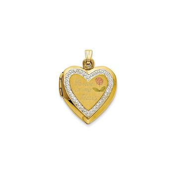 10KT Two-Tone Polished Forever in my Heart Locket Charm