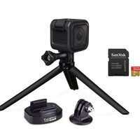 GoPro HERO4 Session Camera, SanDisk Extreme 16GB SD Card & GoPro Tripod - E228629 — QVC.com