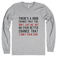 You Don't Like Me, I Don't Even Care-Unisex Heather Grey T-Shirt