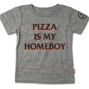 Pizza Is My Homeboy Tee
