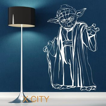 Star Wars Force Episode 1 2 3 4 5 YODA  wall art sticker decal removable vinyl cut movie themed DIY Home Decoration Poster Mural Room AT_72_6