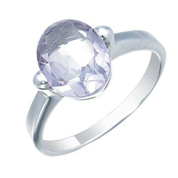 1.50 Carats Sterling Silver Purple Amethyst Ring (1.40 CT)