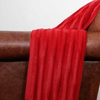 Alice Sculpted Throw - Chili Red