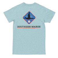 Branding Collection - Flying Duck Tee in Washed Moss Blue by Southern Marsh