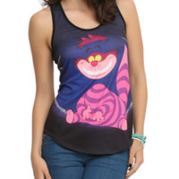Disney Alice In Wonderland Cheshire Cat Girls Tank Top