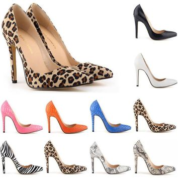 Women Pumps Snake Leopard Zebra Pattern Pointed Toe Thin Heels Shoes Woman Platform Shoes Designer Shoes Women Luxury