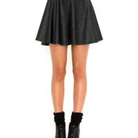 Missguided - Emilie Leather Skater Skirt