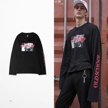 ca qiyif Old School Style High Street Long Sleeve