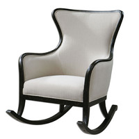 Uttermost 23165 Sandy Weathered Black 39.5-Inch Rocking Chair
