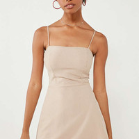 Silence + Noise Pinstripe Knit Fit + Flare Dress | Urban Outfitters