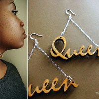 "Rare Earth ""Queen"" earrings"