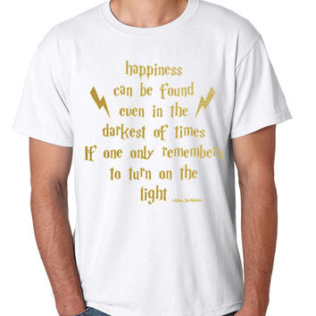 Men's T Shirt Happiness Can Be Found Even In The Darkest