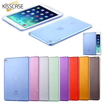 KISSCASE For iPad Mini 4 Cases Soft TPU Gel Crystal Clear Case For iPad Mini 4 Mini4 Slim Anti-scratch Transparent Tablet Cover