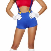 Sexy Mario Brothers Pin Up Girl Halloween Costume