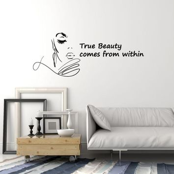 Vinyl Wall Decal Beauty Salon Quote Woman Saying Words Hair Spa Stickers Mural (ig5543)