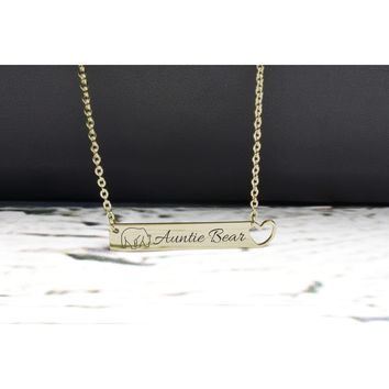Solid Stainless Steel Horizontal Heart Cut-out Necklace