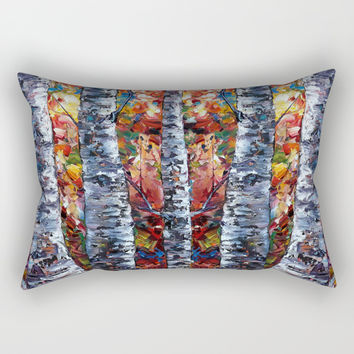 Aspen Up Rectangular Pillow by Lena Owens/OLenaArt