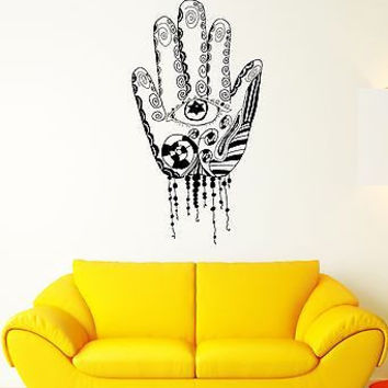 Wall Decal Hand Palm Fingers Art Patterns Symbolism Mural Vinyl Stickers (ed121)