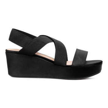 Wedge-heel Sandals - from H&M