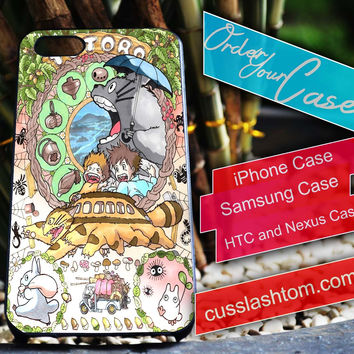 Exclusive Totoro iPhone for 4 5 5c 6 Plus Case, Samsung Galaxy for S3 S4 S5 Note 3 4 Case, iPod for 4 5 Case, HtC One M7 M8