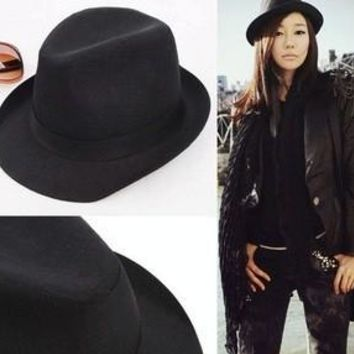 Spring 2014 Fashion Summer Hats For Women Black Jazz New Fedora Hat For Ladies Sun Hat Girl Dress Math CP033