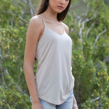 Angie Racerback Cami in Ivory