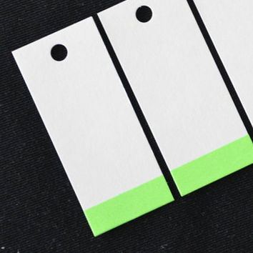 Gift tags - Green  - washi tape decorated - white gift tags - favor tags - gift wrapping - paper tag