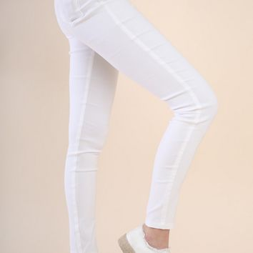 High Wasited White Jeggings