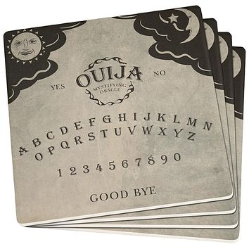Halloween Ouija Board Set of 4 Square Sandstone Coasters