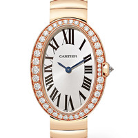 Cartier - Baignoire 24.5mm small 18-karat pink gold and diamond watch