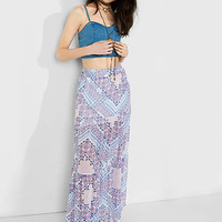 Tapestry Print Tiered Maxi Skirt from EXPRESS