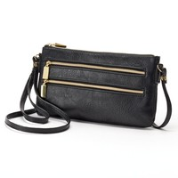 Apt. 9 Convertible Crossbody Wristlet (Black)