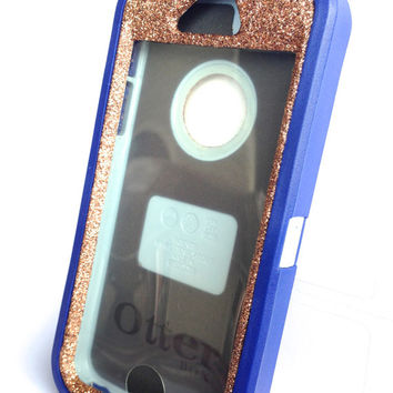OtterBox Defender Series Case iPhone 5s Glitter Cute Sparkly Bling Defender Series Custom Case Blue / Sunstone