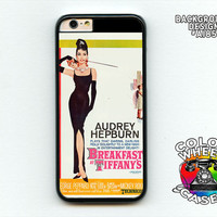 Phone case, Breakfast at Tiffany's, Audrey Hepburn, vintage movie poster image on iphone 6, 6 plus, Galaxy, Galaxy Note by Colorwheel Cases