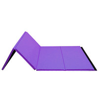 8ft Purple Folding Mat for Gymnastics | Nimble Sports